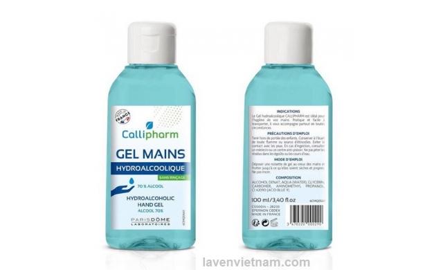 Dung dịch rửa tay khô Callipharm 100ml - Made in France