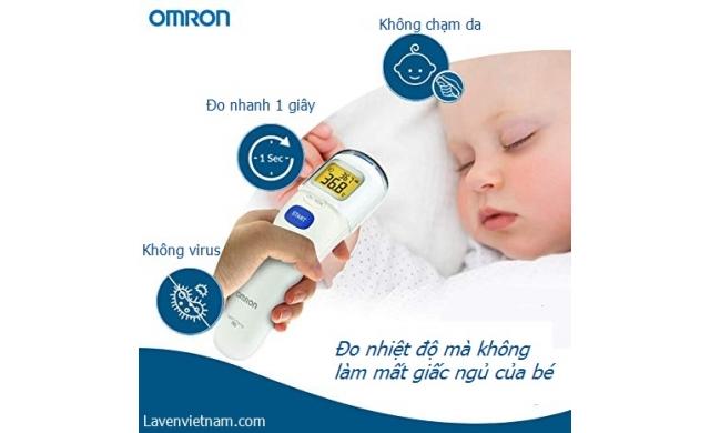 Nhiệt kế điện tử đo trán Omron MC-720