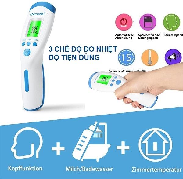 Nhờ bộ nhớ, người dùng có thể lưu trữ tối đa 32 kết quả đo, giúp bạn tự tin kiểm soát được thân nhiệt của bản thân, của con trẻ hay nhiệt độ xung quanh ngay khi cần một cách đơn giản nhất.