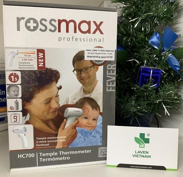 Nhiệt kế Rossmax cung cấp kết quả đo nhiệt độ chính xác không chạm da, sử dụng công nghệ dẫn điện đã được cấp bằng sáng chế; không cần nắp thăm dò.