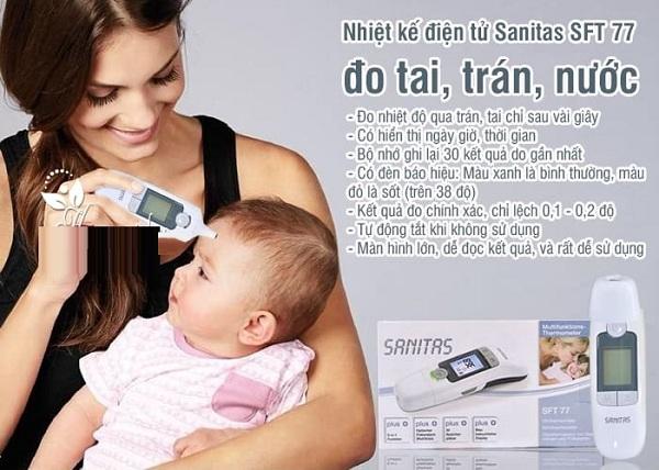 Nhiệt kế điện tử đo tai trán Sanitas SFT77