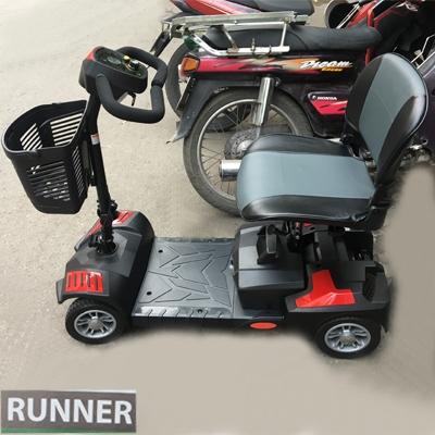 Xe lăn điện Runner cao cấp Thiết kế là Xe lăn điện Runner cao cấp chuyên dụng dành cho người già, người khuyết tật