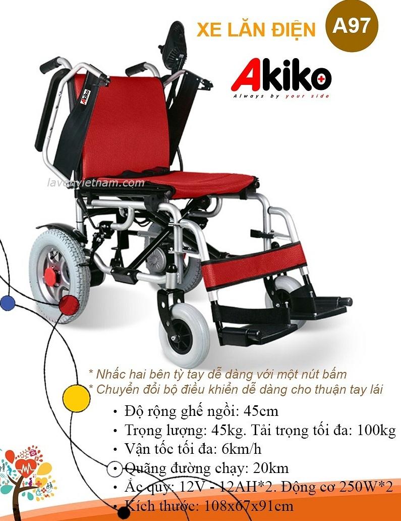 Xe lăn điện Akiko A97 cao cấp nhập khẩu