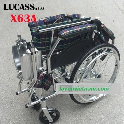 Xe lăn hợp kim nhôm Lucass X63A - X63L 3