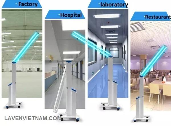 Đèn cực tím được sử dụng nhiều trong khử khuẩn phòng y tế, phòng khám và nơi dễ lây nhiễm