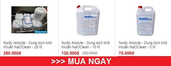 Mua dịch khử khuẩn NaOClean (Nước Anolyte muối ion hoạt hóa)