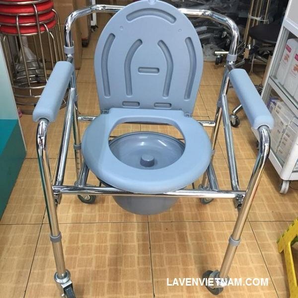 Ghế bô vệ sinh Lucass G96 có bánh xe