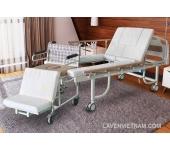 Giường bệnh nhân 2 tay quay E05X (có thể tách thành xe lăn)
