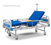 Giường bệnh nhân 2 tay quay Tajermy G02 cao cấp