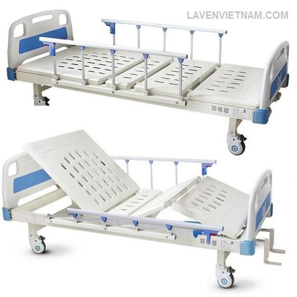 Giường bệnh nhân 2 tay quay Tajemy G02 cao cấp