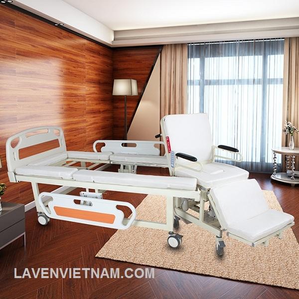 Giường điện đa năng cho bệnh nhân E39X (có thể tách thành xe lăn)