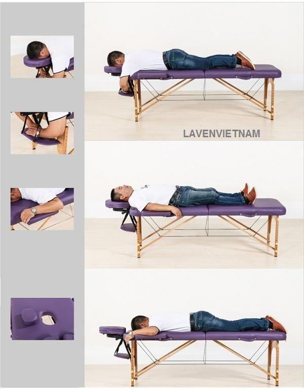 Chức năng của của phụ kiện đi kèm theo giường gấp massage