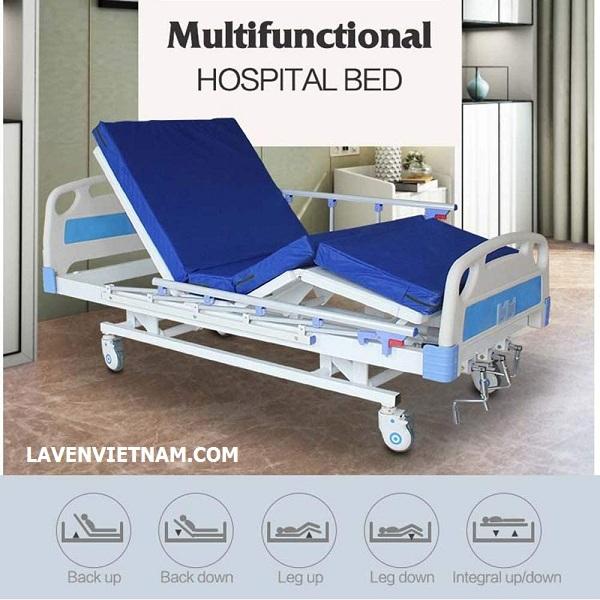 Các chế độ tính năng nâng hạ của Giường bệnh nhân 3 tay quay Tajermy G03