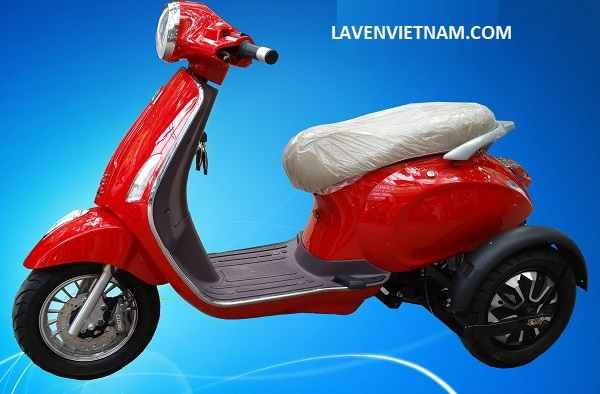 Xe điện 3 bánh Vespa X3-LV9 màu đỏ