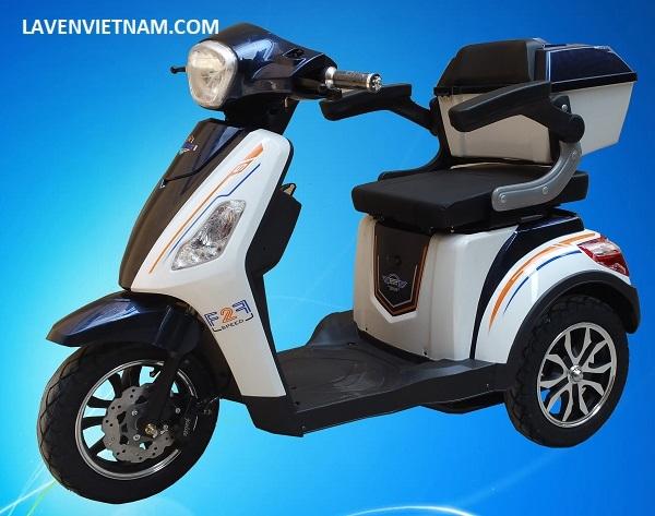 Xe điện 3 bánh Kalima X3-LV10F2C màu trắng