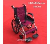 Xe lăn Lucass X63L tím