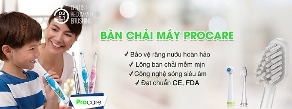 Bàn chải điện Procare KHB01 thích hợp sử dụng cho trẻ em