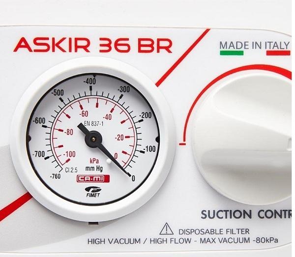 Nút điều chỉnh áp lực của Máy hút dịch Askir 36 BR Cami (Italy)