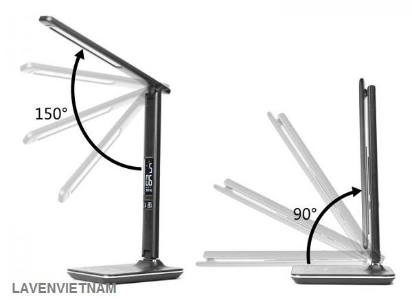 Đầu đèn có thể điều chỉnh (điều chỉnh 180 °) và tay đèn (điều chỉnh 90 °)