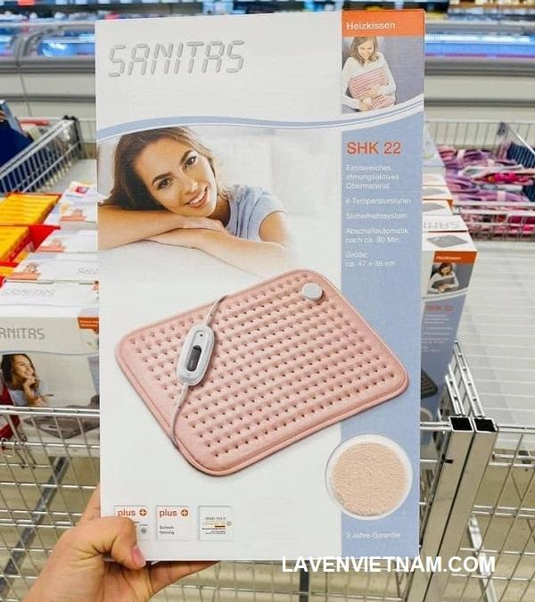 Tấm sưởi điện Sanitas SHK22 màu hồng nhạt