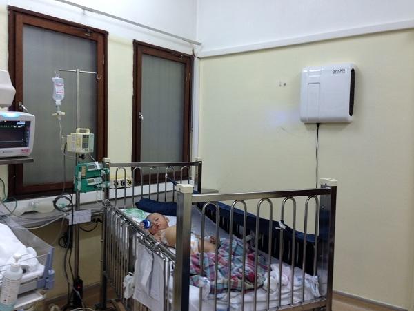Hình ảnh Máy lọc không khí Airocide lắp đặt tại Bệnh viện