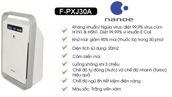 Máy lọc không khí Panasonic F-PXJ30