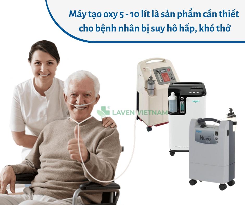 Bệnh nhân bị suy hô hấp do nhiễm COVID-19 cần sử dụng máy tạo oxy khẩn cấp