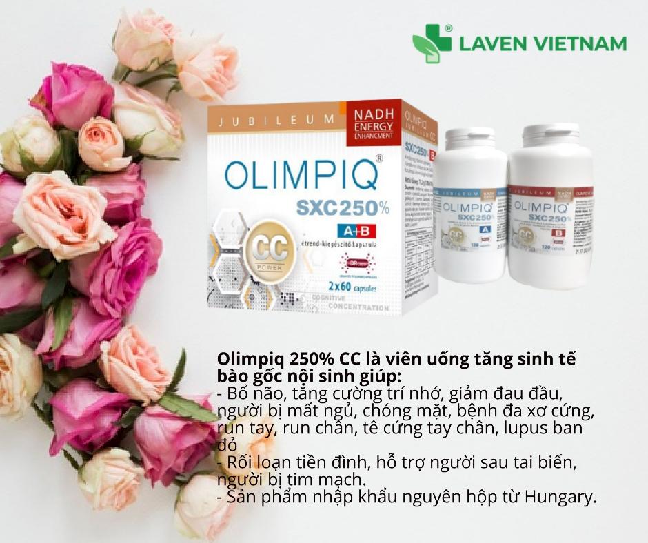 Hiệu quả trị liệu từ viên uống tăng sinh tế bào gốc Olimpiq SXC 250% CC