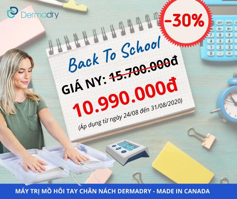 Dermadry - Khuyến mãi cực lớn mùa tựu trường: Back to school