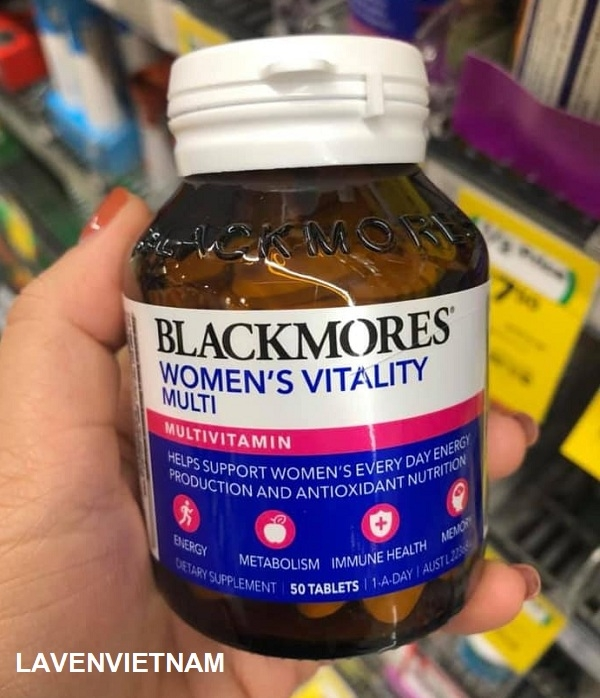 Viên uống bổ sung Multivitamin cho phụ nữ Blackmores Women's Vitality Multi 50 viên