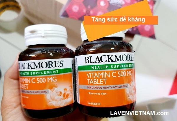 Tăng đề kháng Blackmores Vitamin C 500mg Cold Relief 120 viên
