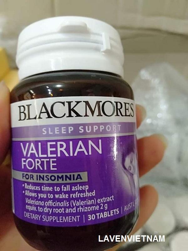 Blackmores Valerian Forte 2000mg rút ngắn thời gian để có được giấc ngủ, hỗ trợ điều trị chứng mất ngủ không thường xuyên.
