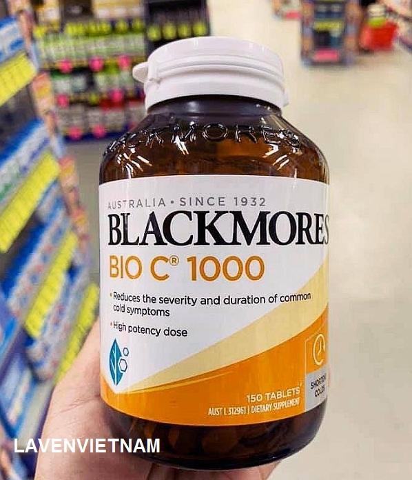 Blackmores Bio C 1000mg 150 viên mẫu Blackmore mới - Hỗ trợ tăng cường hệ miễn dịch và giảm nhẹ các triệu chứng cảm cúm
