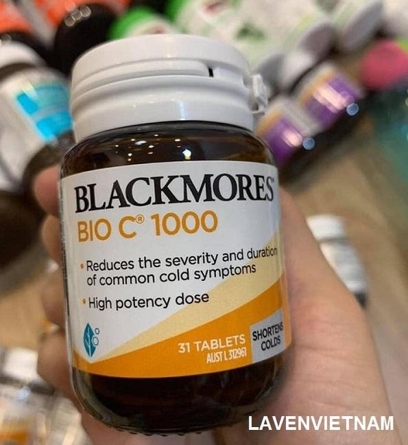 Blackmores Bio C 1000mg Hỗ trợ tăng cường hệ miễn dịch và giảm nhẹ các triệu chứng cảm cúm
