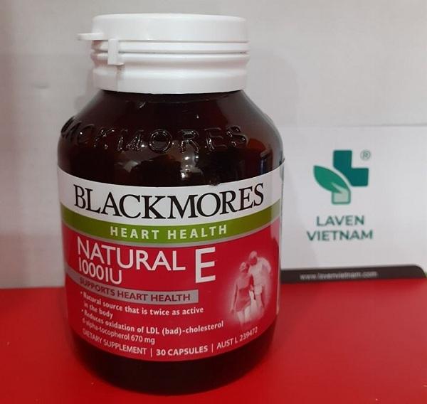 Blackmores Natural Vitamin E 1000IU (30 viên)