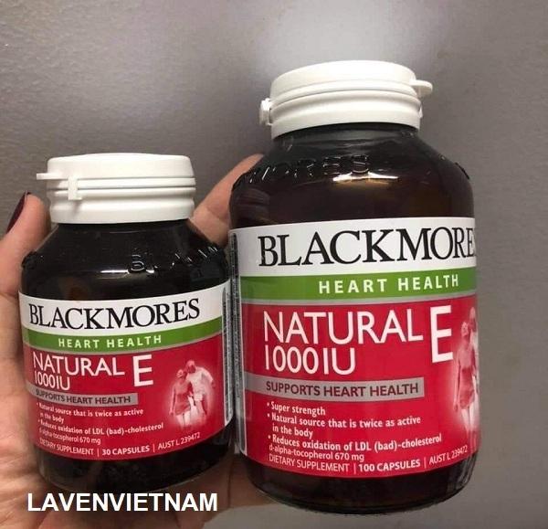 Viên uống bổ sung Vitamin E Blackmores Natural Vitamin E 1000IU