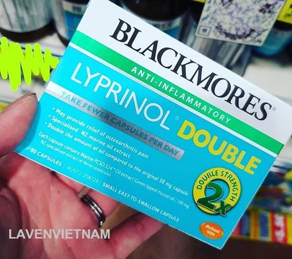 Viên uống chống viêm, hỗ trợ chữa đau khớp Blackmores Lyprinol Double 30 viên