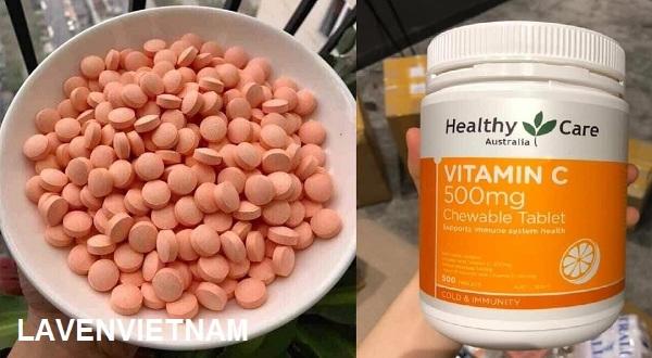 Viên nhai Healthy Care Vitamin C 500mg (500 viên)