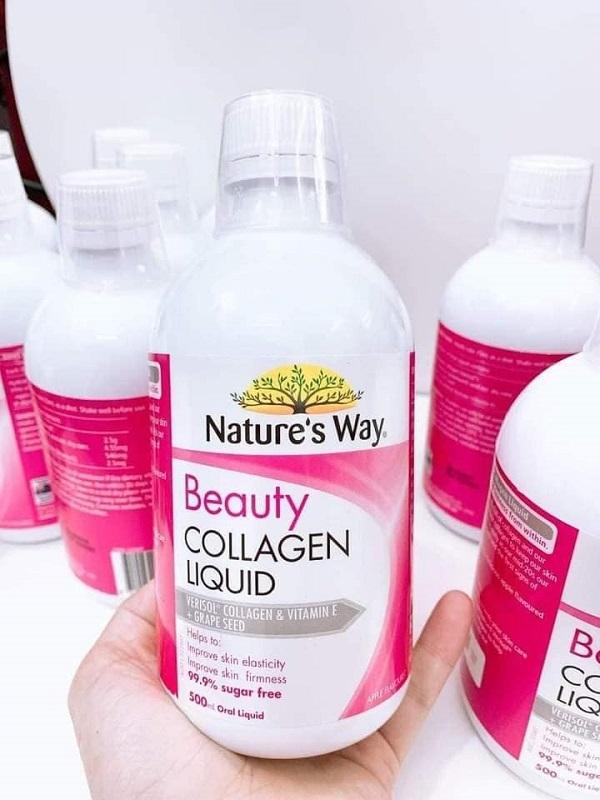 Collagen nước tinh chất hạt nho Nature's Way Beauty Collagen Liquid với VERISOL Bioactive Collagen Peptides giúp bổ sung và xây dựng lại cấu trúc thêm chặt chẽ hơn.