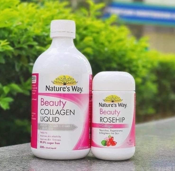 Nature's Way Beauty Collagen Liquid 500ml giúp cải thiện độ săn chắc và đàn hồi của da trong một thức uống thơm ngon 99,9% không đường dễ dàng và ngon miệng