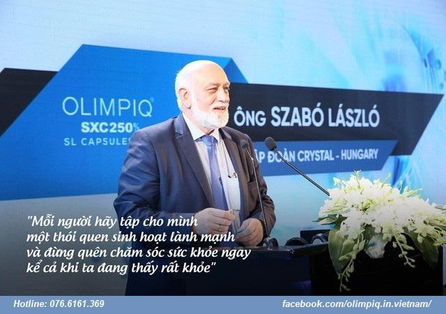 Szabó László người sáng tạo ra hoạt chất tăng sinh tế bào gốc Olimpiq đẩy lùi bệnh tật (Ảnh bài từ Vnexpress)