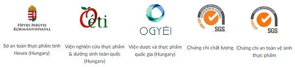 Chứng nhận sản phẩm Tăng sinh tế bào gốc nội sinh Olimpiq 250%