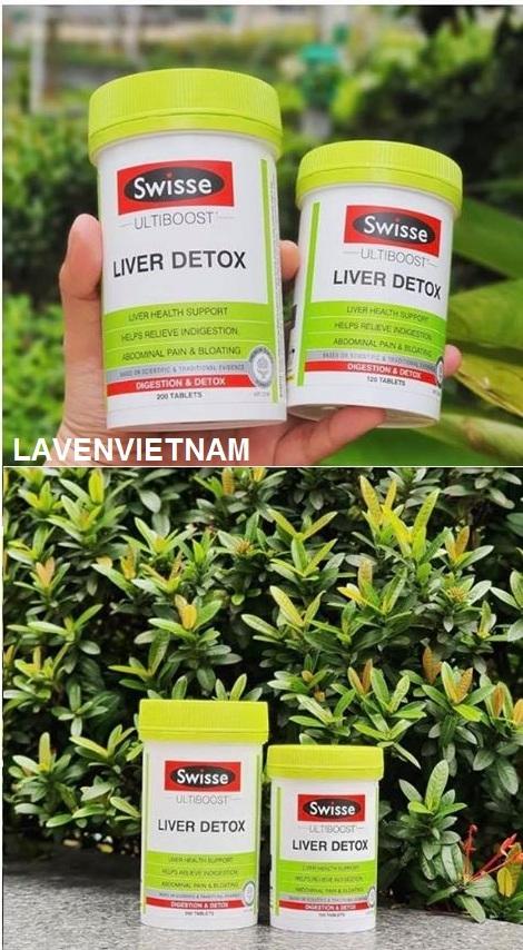 Viên uống bổ gan và giải độc gan Swisse Liver Detox 200 viên