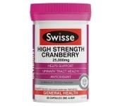 Swisse Cranberry 25000mg - Viên uống hỗ trợ đường tiết niệu nam việt quất (30 viên)