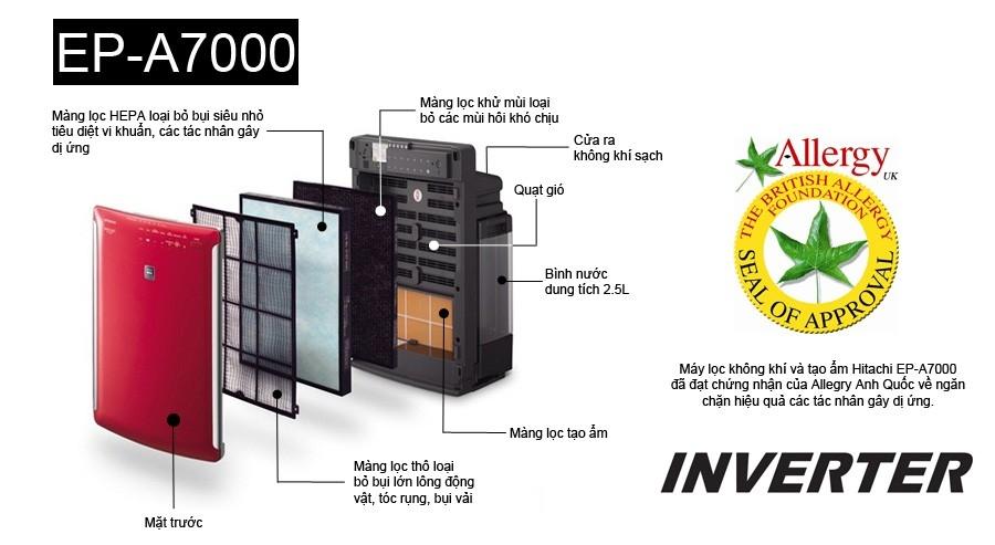 Máy lọc không khí và tạo ẩm Hitachi EP-A7000 - 0