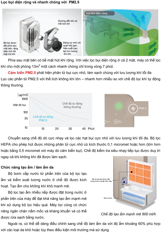 Máy lọc không khí và tạo ẩm Hitachi EP-M70E-0