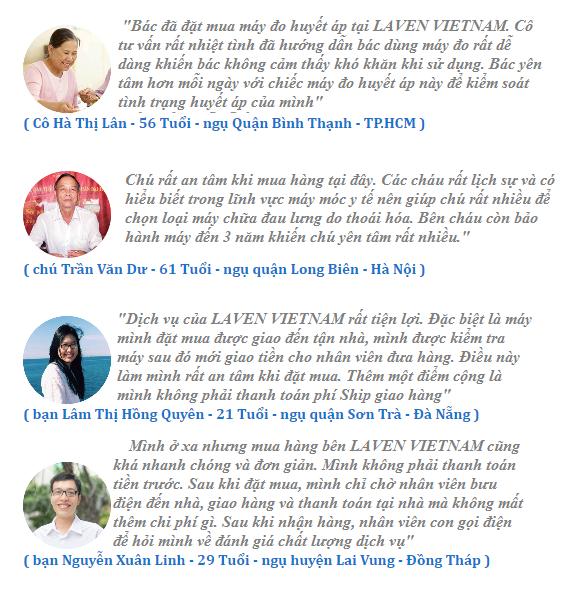 Đánh giá của khách hàng về Laven Việt Nam
